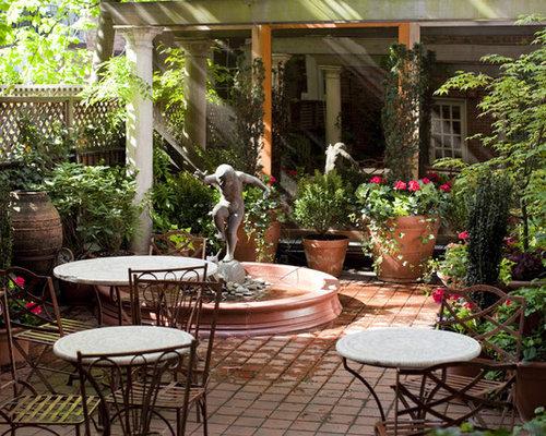 courtyard garden design home design ideas  pictures  remodel and decor