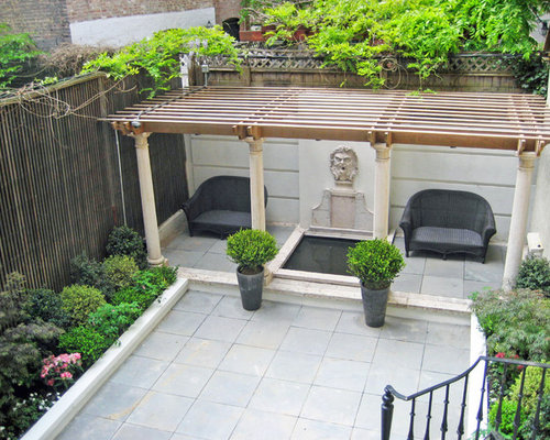 Townhouse Backyard Home Design Ideas, Pictures, Remodel ... on Townhouse Patio Ideas id=57583