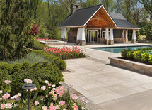 Who is the designer on the pool house?