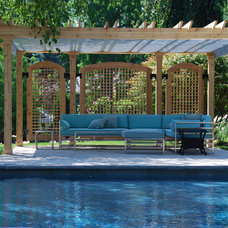 Traditional Patio by ShadeFX Canopies