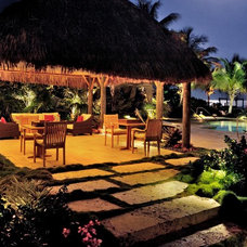 Tropical Patio by Craig Reynolds Landscape Architecture