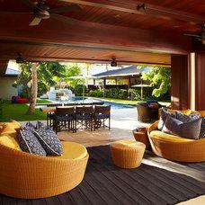Eclectic Patio by Jamie Jackson Design