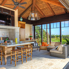 Tropical Patio by Architectural Photographer Ron Rosenzweig