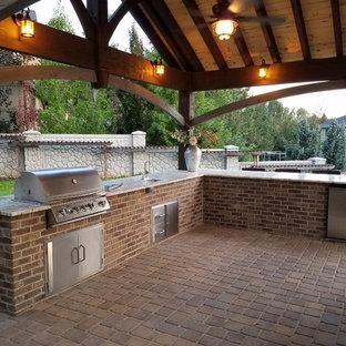 Example of a minimalist patio design in Salt Lake City