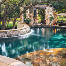 Traditional Patio by John Pack Custom Pools