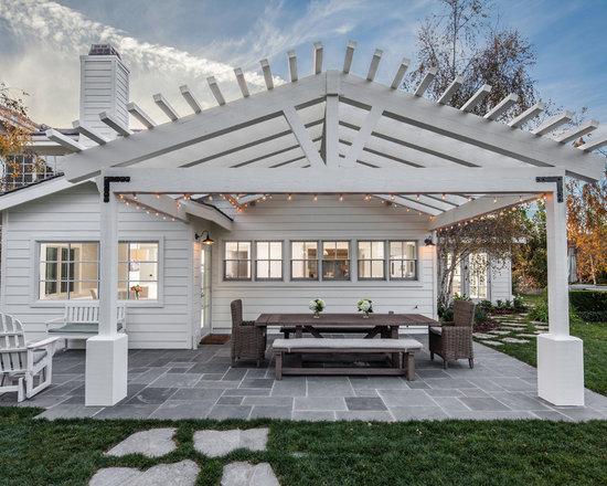 farmhouse patio design ideas, remodels & photos with natural stone ... - Patio Designs Stone