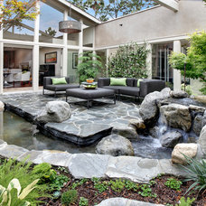 Contemporary Patio by Lee Ann Marienthal Gardens