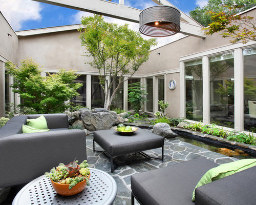 Courtyard landscape home design ideas pictures remodel for Courtyard renovation ideas