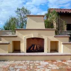 Fireplaces accessories find fireplace screens mantels for Modular outdoor fireplace