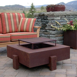 """Ore Square Wood Burning Fire Pit - The Ore 4011 34"""" Square Wood Burning Fire Pit brings form to functionality.  The beautiful piece of art will help extend your entertaining into the evening hours for your outdoor enjoyment."""