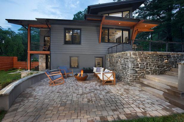 Contemporary Patio by Living Stone Design + Build