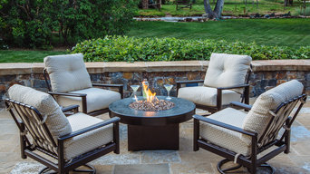 Oriflamme Gas Fire Table with Outdoor Furniture