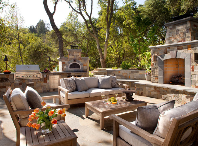 Traditional Patio by Kathleen Burke Design