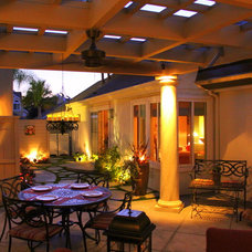 Eclectic Patio by Creative Atmospheres, Inc.