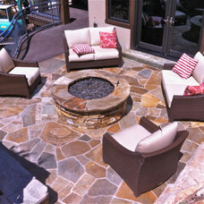 Eclectic Patio by NPW Stone Masonry