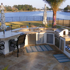 Mediterranean Patio by Outdoor Kitchens By Design Inc