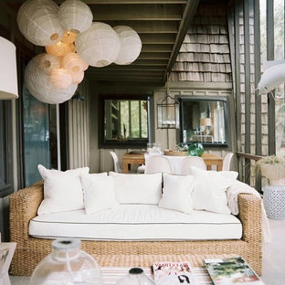 Example of a cottage chic patio design in Philadelphia