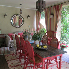 Eclectic Patio by Pacific Coast Draperies