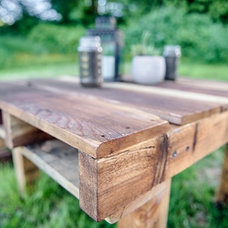 Rustic Patio by The Tiny Tack House