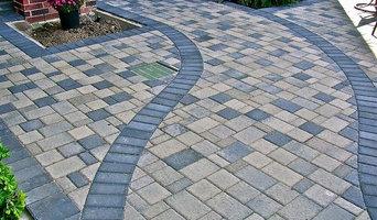 stone pavers and concrete