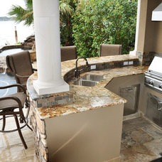 Mediterranean Patio by Distinctive Interiors & Designs