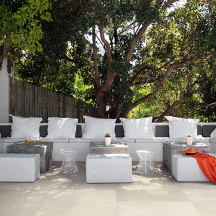 Mid-sized trendy backyard tile patio photo in San Francisco with no cover