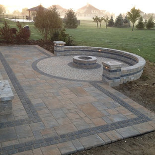 Outdoor Bar and Gas Fire Pit Outdoor Living Space