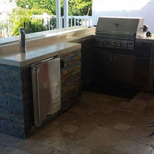Outdoor Bbq Bar W Kegerator And Fire
