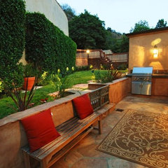 eclectic patio by Construction Owl