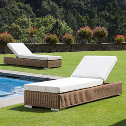 Outdoor Chaise Lounges - This beautifully designed chaise has an adjustable back.