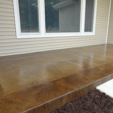 Contemporary Patio by Dancer Concrete Design