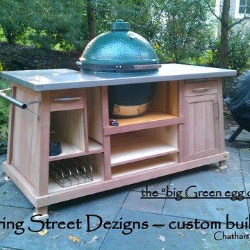 outdoor custom BBQ cart