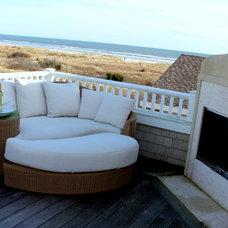 Beach Style Patio by Beach Dwellings