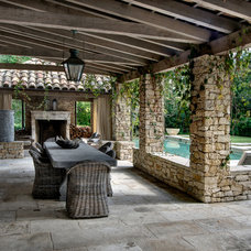 Mediterranean Patio by Allan Edwards Builder Inc