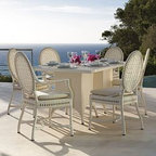 Outdoor Dining Furniture - The elegant design of the Monaco dining collection presents a Mediterranean flair to your ourdoor dcor.