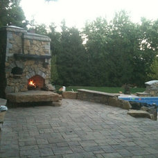 Traditional Patio by Peterson Masonry Design