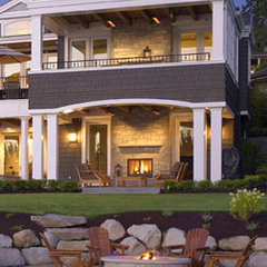traditional patio by Tom Kuniholm Architects, AIA