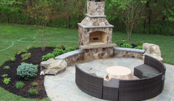 Outdoor Fireplace Designed with Living Space in New Jersey