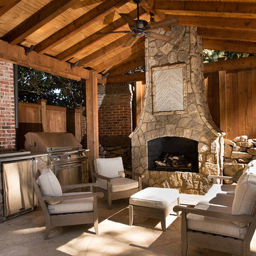 Outdoor Fireplace,Grill Enclosure and Pavilion .