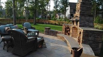 Outdoor Fireplace Midlothian VA.