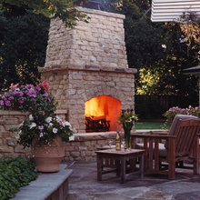 Cuddle Up To These Outdoor Fireplaces
