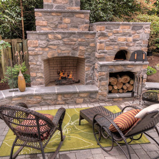 Patio Mit Feuerstelle Ideen Design