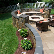 Contemporary Patio by Four Seasons Landscaping & Nursery