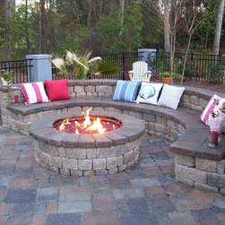 Outdoor Fireplaces - We design and build custom outdoor fire pits starting at $500