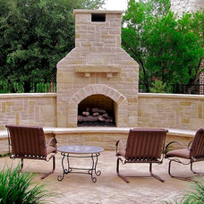 Eclectic Patio by Pool Environments, Inc.