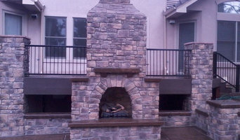 Outdoor Gas Fireplace, Patio and Kitchen