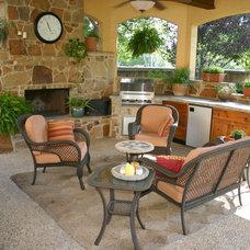 Eclectic Patio Outdoor Gazebo Living Area in San Antonio, Texas
