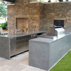 Contemporary Patio by Trueform Concrete