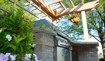 Outdoor Grill Station with Cedar Pergola