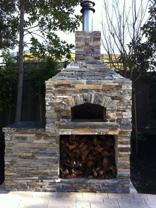 Outdoor Hip Roof Wood Fired Pizza Ovens on Outdoor Patio With Pizza Oven id=94894